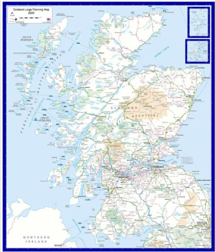 Scotland - Large Wall Map - 2020